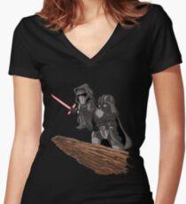 villain funny Women's Fitted V-Neck T-Shirt