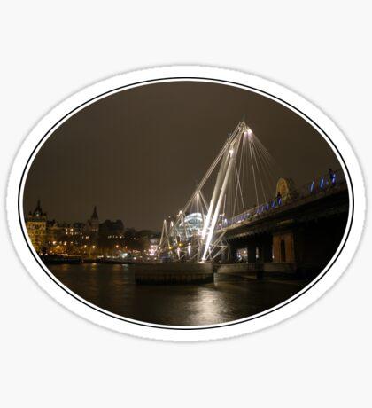 Hungerford Bridge Sticker