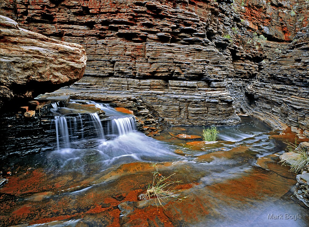 Small Waterfall, Hancock Gorge by Mark Boyle