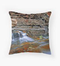 Small Waterfall, Hancock Gorge Throw Pillow
