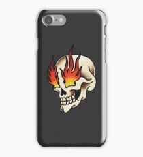Skull with Flaming Eyes iPhone Case/Skin