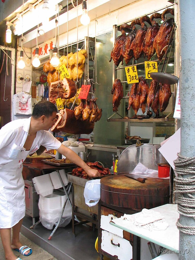 Peking Duck vendor, Shanghai Street, Hong Kong by RosemaryO