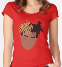 XXXTENTACION Minimal Design - Red Women's Fitted Scoop T-Shirt