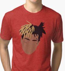 XXXTENTACION Minimal Design - Red Tri-blend T-Shirt