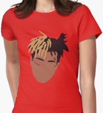 XXXTENTACION Minimal Design - Red Womens Fitted T-Shirt