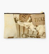 Vintage Movie Tickets And Popcorn Studio Pouch