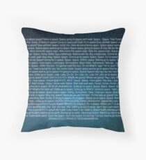 Space Core Quotes Throw Pillow