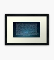 Space Core Quotes Framed Print