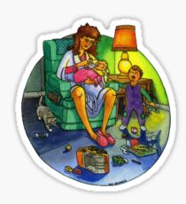 Tired Mother Sticker