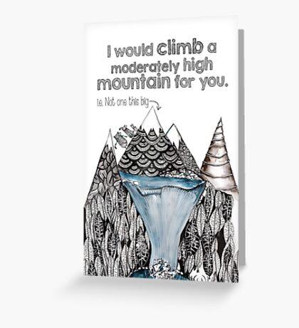 Mountain love Greeting Card