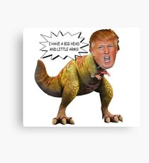 Funny Donald Trump Tiny the T-Rex Meme Canvas Print