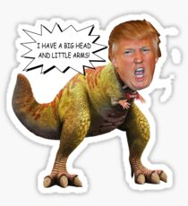 Funny Donald Trump Tiny the T-Rex Meme Sticker