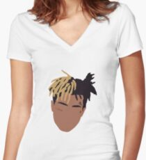 XXXTENTACION Minimal Design Women's Fitted V-Neck T-Shirt