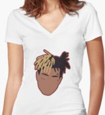 XXXTENTACION Minimal Design w/Stroke Women's Fitted V-Neck T-Shirt