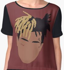 XXXTENTACION Minimal Design - Red Women's Chiffon Top