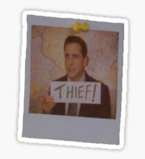 Michael Scott Thief Sticker