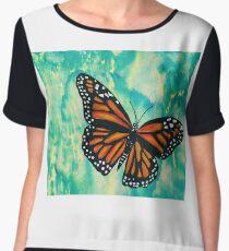 Monarch Butterfly Pop Chiffon Top