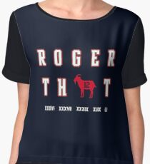 Tom Brady - Roger That Chiffon Top