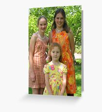 Easter Girls Greeting Card
