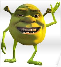 Shrek Mike Wazowski Poster
