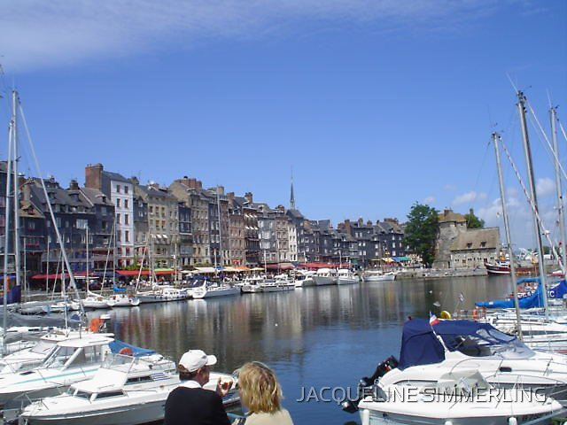 marina in france by JACQUELINE SIMMERLING