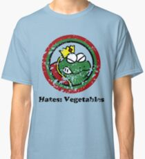 Hates: Vegetables (Battle Damage) Classic T-Shirt