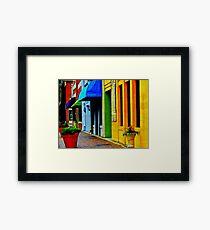 Marietta Square - awnings Framed Print