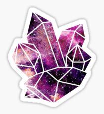 Galaxy Crystal Cluster Sticker