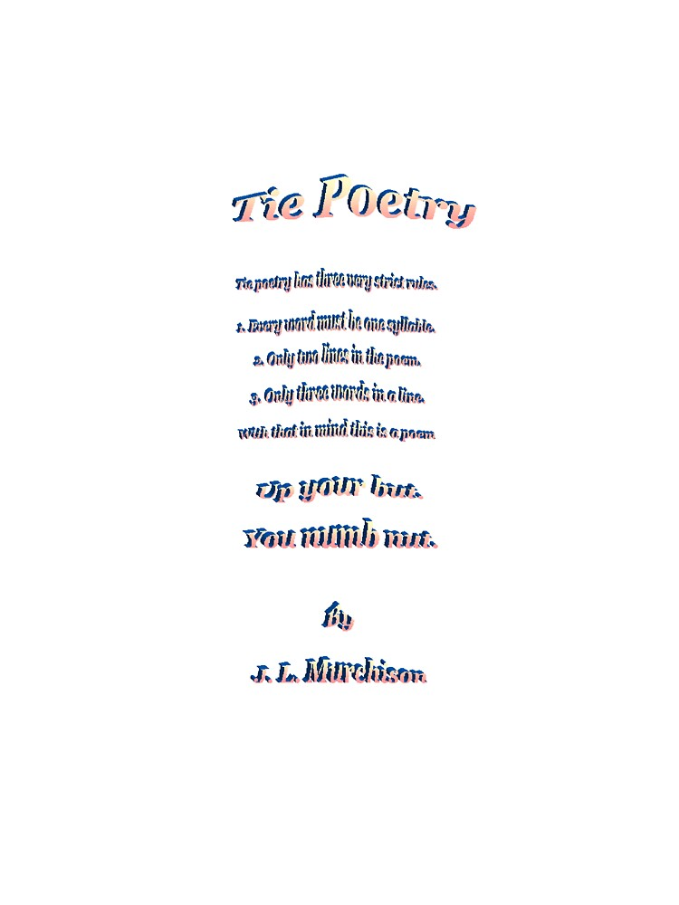 Tie Poetry by Josehflm