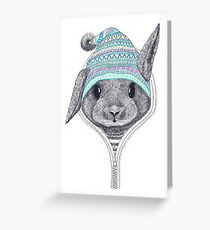 The Rabbit in hood Greeting Card