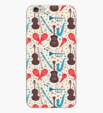 Music Instruments Pattern iPhone Case