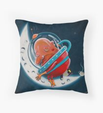 Sleepy Moon Throw Pillow