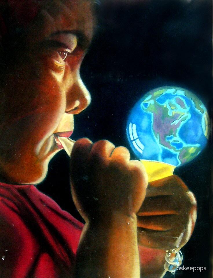 bubble earth by oskeepops