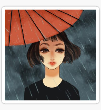 Red Umbrella Rain Sticker