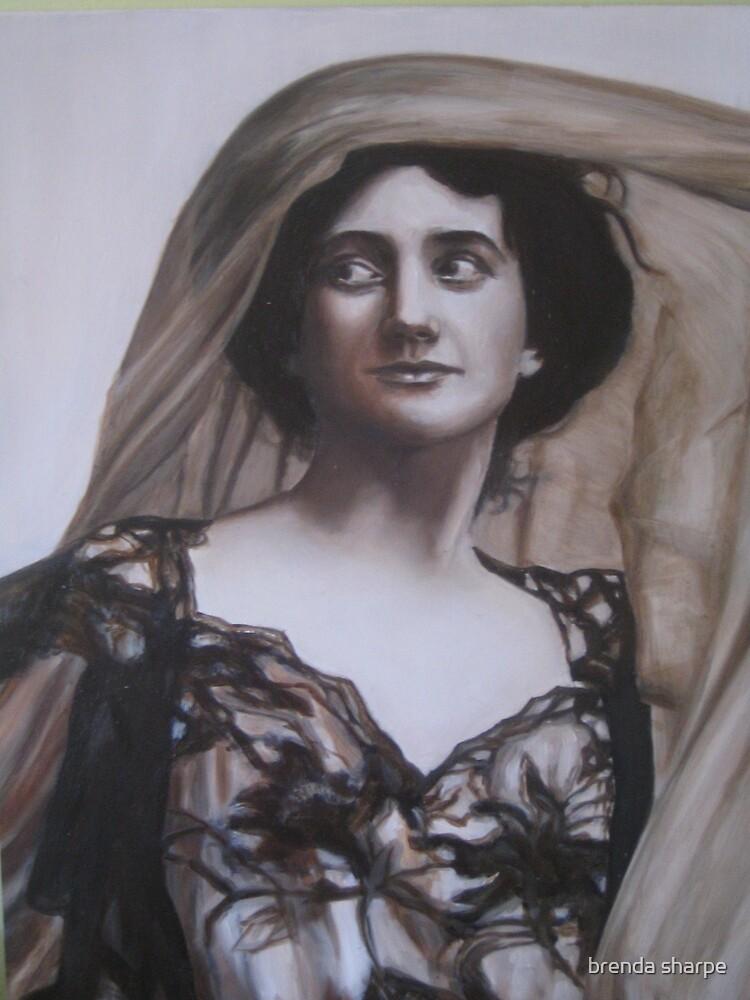 Lady with Veil by brenda sharpe