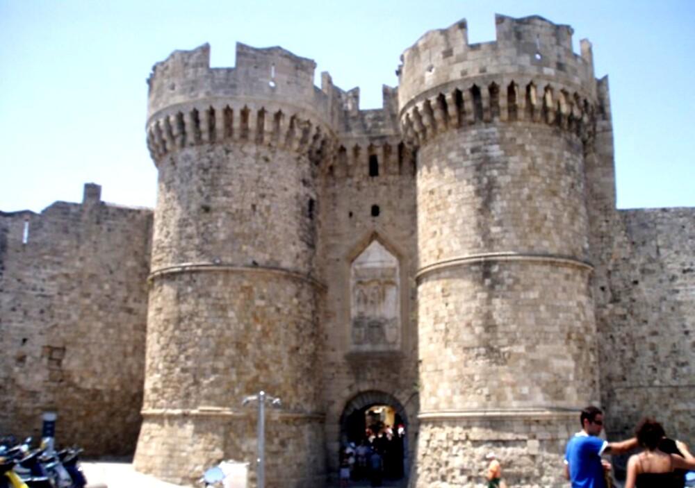 Entrance to Castle in Rodos, Greece by Billy Andonaras
