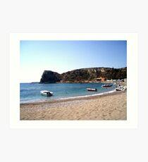 Greek Beaches, island of Rodos Art Print