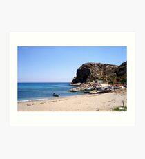 Stegna Beach in Rodos, Greece Art Print