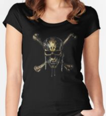 PIRATES OF THE CARIBBEAN  DEAD MEN TELL NO TALES SKULL Women's Fitted Scoop T-Shirt
