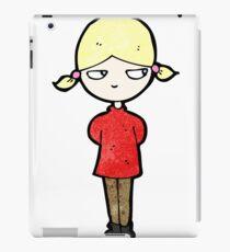 cartoon annoyed blond girl iPad Case/Skin