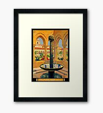 Monreale Palermo Italy Vintage Poster Restored Framed Print