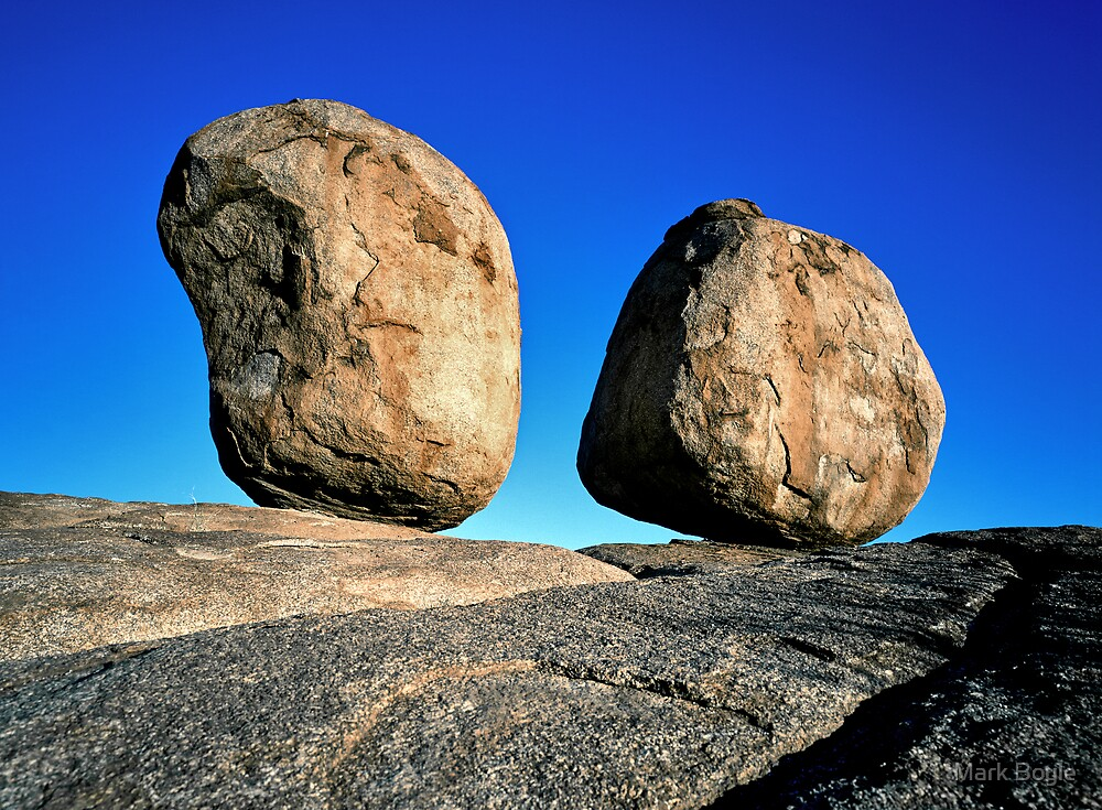 Perfect Balance, Devils Marbles, Central Australia by Mark Boyle