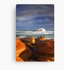 Stormy Sunset Crashing Wave Canvas Print