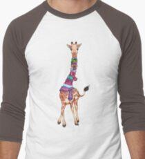 Cold Outside - Cute Giraffe Illustration Men's Baseball ¾ T-Shirt
