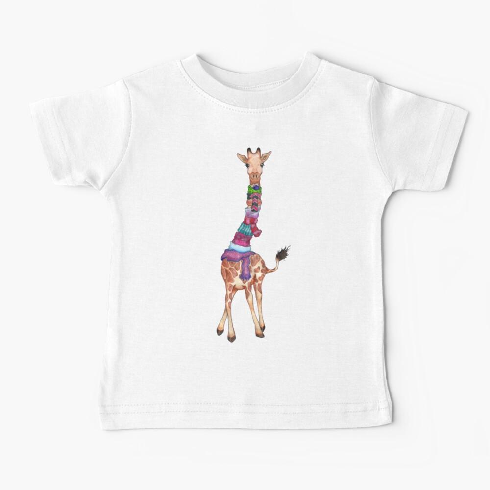 Cold Outside - Cute Giraffe Illustration Baby T-Shirt