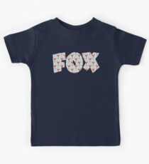 Fox Pattern on Sage  Kids Tee