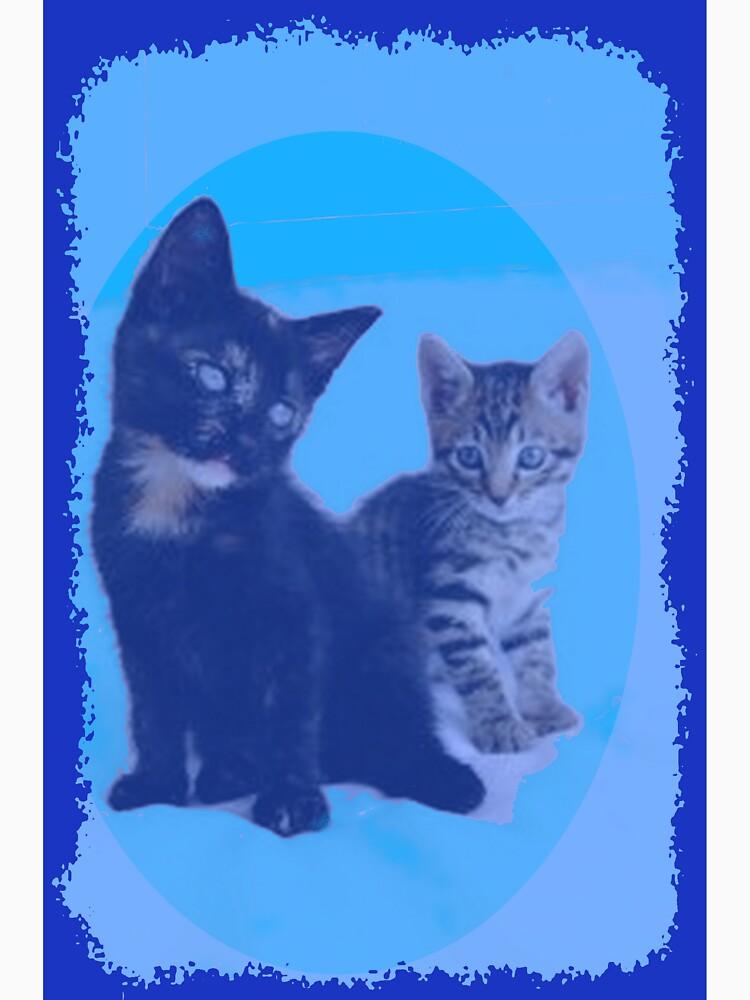 BLUE KITTENS by juliecat