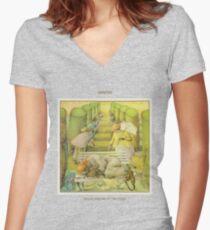 Camiseta entallada de cuello en V Génesis: vendiendo Inglaterra por Libra