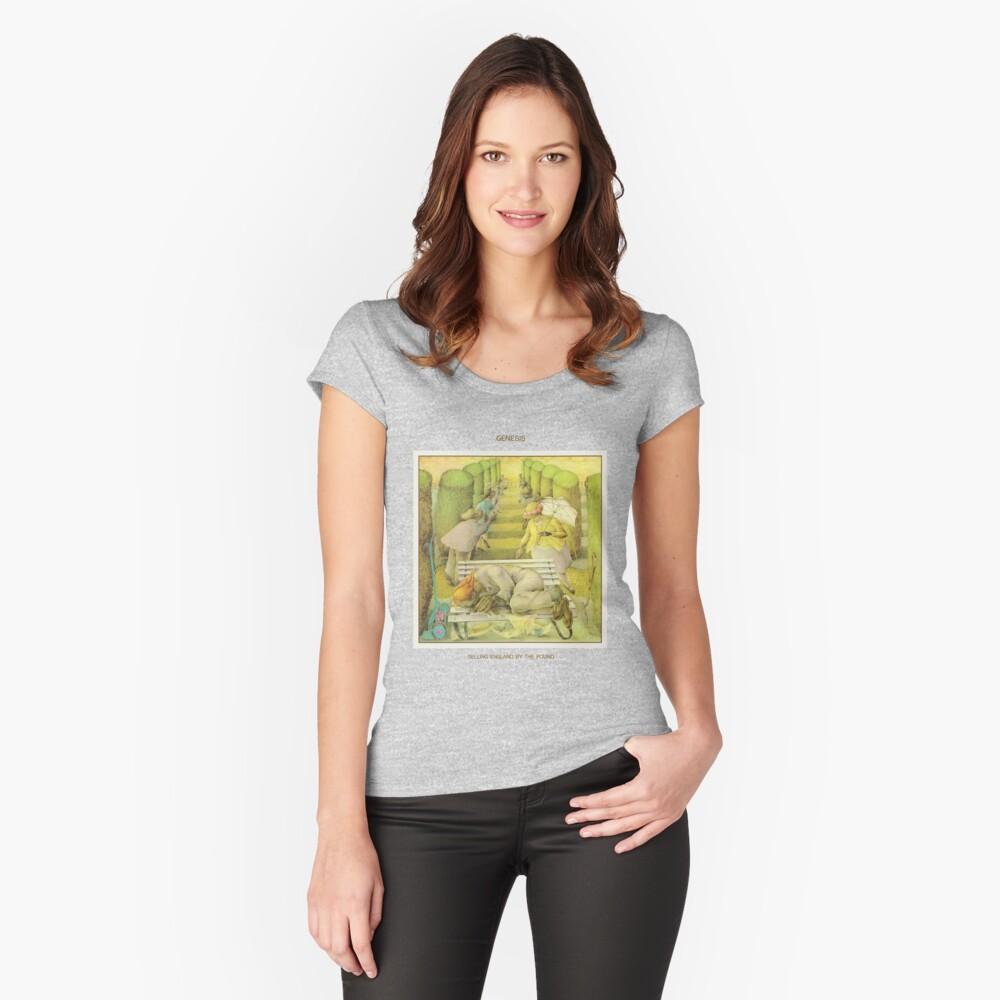 Genesis - England durch das Pfund verkaufen Tailliertes Rundhals-Shirt