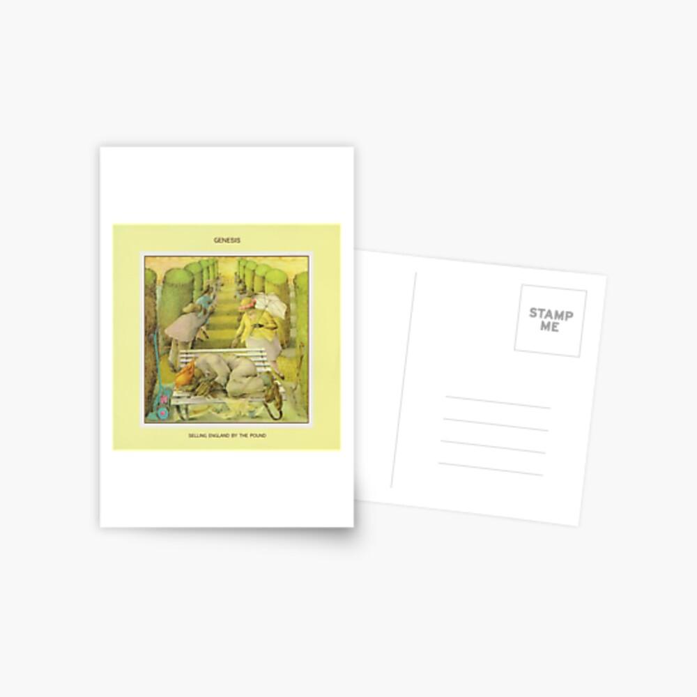 Genesis - England durch das Pfund verkaufen Postkarte